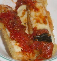 "Polenta-Quinoa Sticks - healthy ""mozzarella"" sticks!"