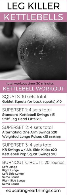 Leg killing kettlebell circuit | Posted By: NewHowToLoseBellyFat.com