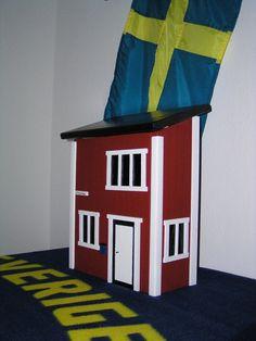 """Gartendekoration - Briefkasten im Schwedenstil, Modell """"Rosenfors""""  - ein Designerstück von usa66 bei DaWanda"""