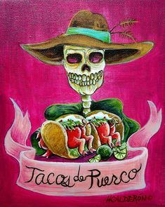 Tacos de Puerco Painting  - by Heather Calderon