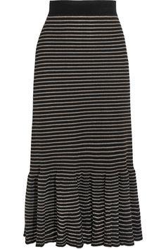 Sonia Rykiel | Metallic striped cotton-blend midi skirt | NET-A-PORTER.COM