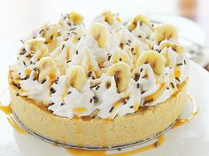Banoffee Pie! {My daughter made this and it is absolutely amazing! Bananas + toffee. What's not to love?}