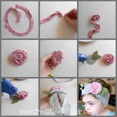 The Little Giggler: Knit Rose {the tutorial}