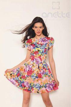 Letnia sukienka w kwiaty rozm. 40 - Anette Fashion