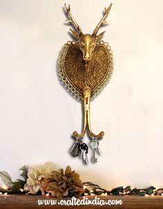 Metal Reindeer Key Holder