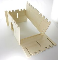 wooden castle (easy to take apart and store flat)