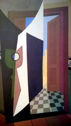 Emilio Pettoruti - The house of the poet IV, 1935 Cubist Paintings, Cubist Art, Abstract Art, Harlem Renaissance, Art Deco, Contemporary Artists, Modern Art, 20th Century Painters, Francis Picabia