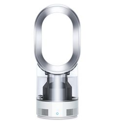 Dyson AM05 bladeless fan heater in iron and blue colourway
