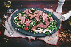 Cider and Maple Magret Duck Breast Salad Tuna, Steak, Fish, Comme, White Balsamic Vinegar, Salads, Red Apple, Pisces, Steaks