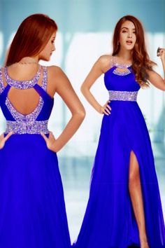 2014 Sexy Prom Dresses A Line Scoop Sweep/Brush Red  Open Back Dinner Gowns, Royal Blue Prom Dresses, Red Chiffon, Chiffon Evening Dresses, Dress Picture, Beautiful Dresses, Nice Dresses, Dresses With Sleeves, Dress Sleeves