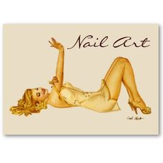 Nail Art Vargas Pinup Girl - Business Cards