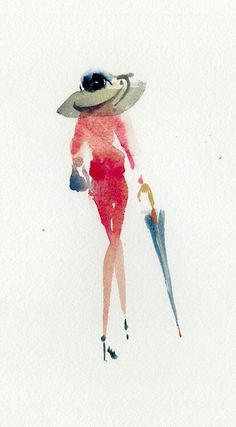 i love this style of painting Painting People, Drawing People, Watercolor Fashion, Watercolor Paintings, Watercolors, Art Sketches, Art Drawings, Watercolor Pictures, Painting Inspiration