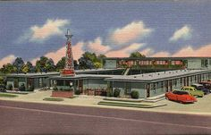 vintage motel postcard - Canyon Courts, Snyder, Texas