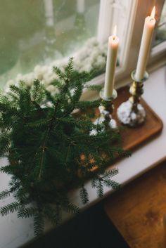 Fresh greens & candle light