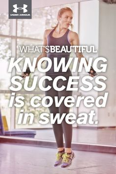 What's Beautiful.  KNOWING SUCCESS is covered in sweat. #whatsbeautiful @Joann Matthews Armour