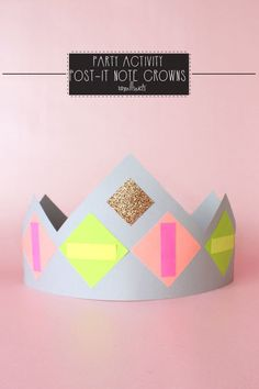 Paper Crown Making Activity