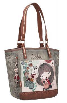 Damenhandtasche Anekke Ixchel Music abnehmbarer Anhänger Reusable Tote Bags, Monogram, Chanel, Michael Kors, Products, Style, Wings, Zippers, Pockets