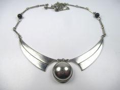Jakob bengel Designer Collier Art Deco Halskette Vintage 30er Modernist aN2