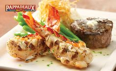 Pappadeaux Seafood Kitchen - Filet Mignon & Grilled Rock Lobster