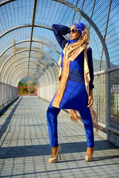 Chi likes to find creative new ways to style her hijab for her professional life.