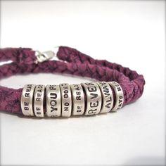 personalised song lyrics bracelet