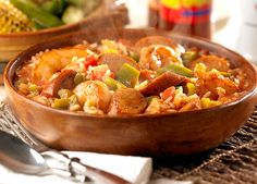 Cajun Chicken Sausage Jambalaya made with Johnsonville Cajun Style Chicken Sausage