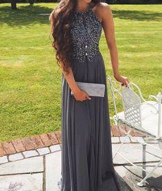 Dark Grey Prom Dress, Prom Dresses, Graduation Party Dresses, Formal Dress For Teens BPD0446