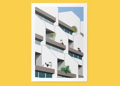 Excited to share the latest addition to my shop: Cats on Whittington Estate / Poster Print / Modernist Architecture / Cats / Digital Illustration Architectural Prints, Brutalist, Cat Gifts, Poster Prints, Art Print, Posters, A3, Biodegradable Products, Digital Illustration