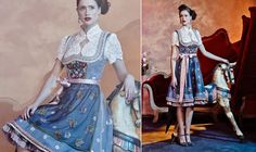 Oh so lovely. This blue Dirndl is just perfect. by Lola Paltinger