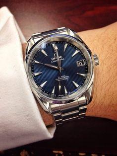 omega seamaster aqua terra co-axial Stylish Watches, Cool Watches, Rolex Watches, Vintage Watches For Men, Luxury Watches For Men, Omega Aqua Terra, Seamaster Aqua Terra, Affordable Watches, Expensive Watches