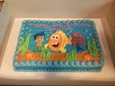 Bubble Guppies sheet cake Bubble Guppies Birthday Cake, Bubble Guppies Party, Bubble Party, Third Birthday, Baby Birthday, 1st Birthday Parties, Birthday Ideas, Bubble Guppies Decorations, Party Themes
