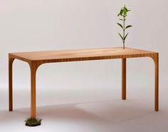 Barewood Table Kubikoff KS21 by Jutta Friedrichs