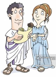 Roman Man and Wife reading the latest first edition...  Artist:  Piers Baker