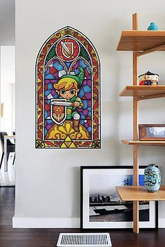 Faux stained glass windows for Legend of Zelda fans. | 31 Awesome Decals That Will Completely Transform Your Walls