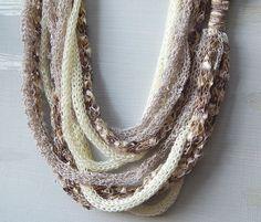 Infinity Scarf Necklace Scarf Skinny Scarf Cowl by deezignstudio