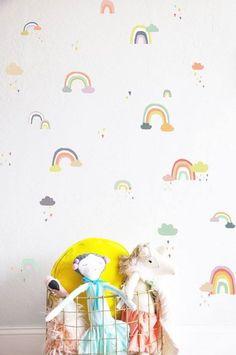 Regenbogen Wandaufkleber Fürs Kinderzimmer (immer Wieder Abnehmbar) Von The  Lovely Wall Co.