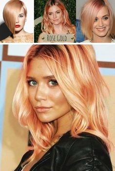 Rose gold hair...what an uber cool hair trend for 2014/2015 Zest it Up