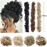 Real Natural Curly Messy Bun Hair Piece Scrunchie Hair Extensions as Human Grey Ponytail Hair Piece, Curly Hair Pieces, Clip In Hair Pieces, Curly Hair Types, Ponytail Scrunchie, Synthetic Curly Hair, Jumbo Braiding Hair, Messy Curly Bun, Curly Clip Ins