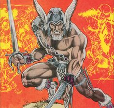 """"""" The Warlord - art by Mike Grell """" The Warlord, Dc Universe, Geek Stuff, Comic Books, Fun, Computers, Geek Things, Cartoons, Comics"""