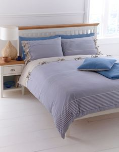 Linea Woven Stripe Kind Duvet Cover Set