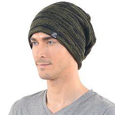 Старинные мужчины громоздкая сумка Мешковатые beanie трикотажа череп Кепка шляпа (B5001-зеленый) одежда в магазине Amazon мужчин: