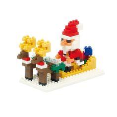 Père Noël et son traîneau Nanoblock | Découvrez tous nos Nanoblocks, jeu de construction miniaturewww.lepingouindelespace.com