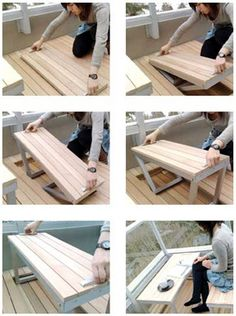 A bench that comes out of your patio!