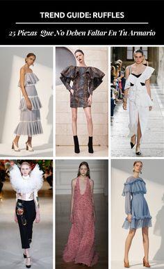 Las líneas rectas han desaparecido de las pasarelas y todos quieren usar esta nueva tendencia ondulada. Street Style Looks, Ruffles, Duster Coat, Cool Outfits, Capri Pants, Key, Trends, Blog, Jackets