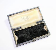 Wm Greenwood Sons, Leeds Antique Edwardian Black Paper Covered, Cream Silk & Black Velvet Lined Small Watch/Bracelet Jewellery Box (c1910s) by GillardAndMay on Etsy