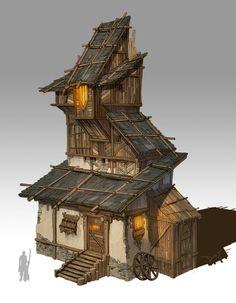 Farmhouse by Dirty J on ArtStation.