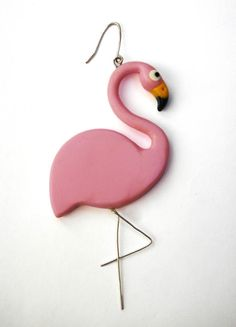 Pink+Flamingo+earring+from+35th+of+May+by+DaWanda.com