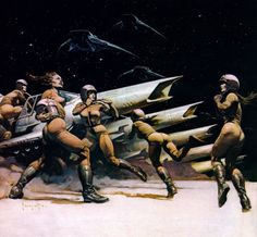 Space Attack by Frank Frazetta - Battlestar Galactica Concept art from the 70's