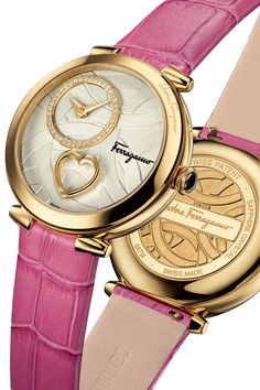 "The Salvatore Ferragamo Cuore Ferragamo is the perfect way to show mom she will always be in your heart. One of the fashion house's newest releases, the watch (prices range from $1,395-$2,995) is distinguished by a gold, steel, or red-enamel heart positioned on the dial at 6 o'clock that ""beats"" (an effect created by its two halves separating and then rejoining once a second for two minutes. The mechanism is activated by pushing the crown, while a special heart-shaped tool is used to set…"