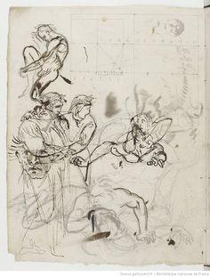 Eugène Delacroix. Carnet de notes et de dessins.